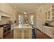 Another view of the kitchen at the renovated Back Bay brownstone at 315 Marlborough St.