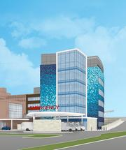 A six-story patient tower facing Galbraith Road is part of the plan.