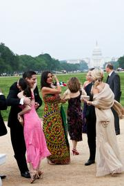 The Ball on the Mall boasts one of the best locations in Washington: a tent right on the National Mall.