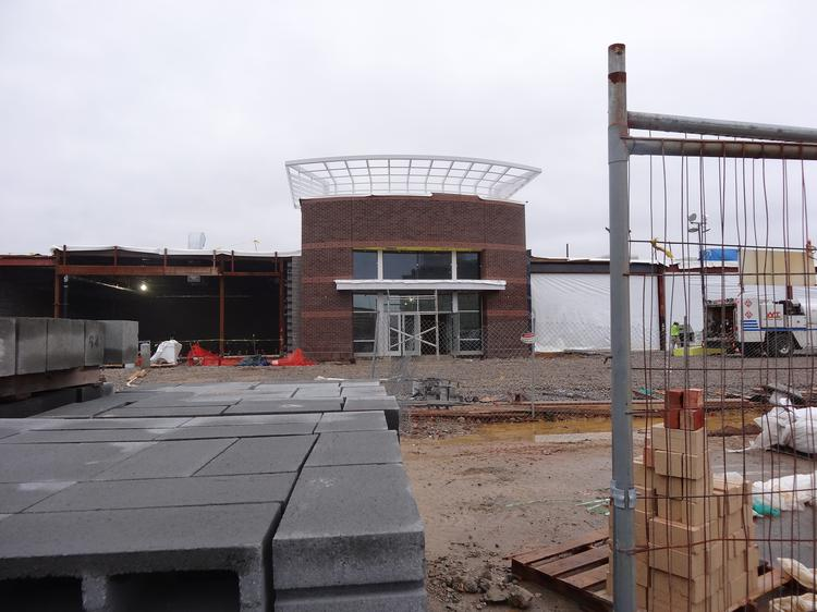 The future entrance to the LA Fitness at the Springfield Town Center.
