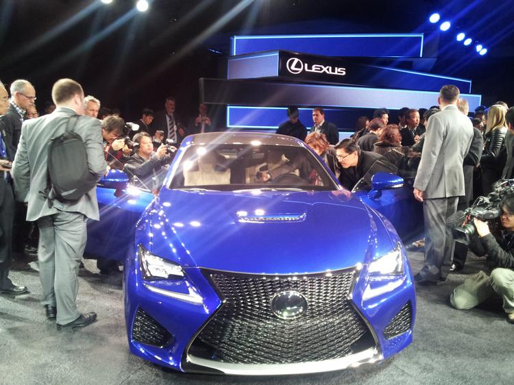 The Lexus RC F is the high-performance version of the 350 coupe unveiled last year.