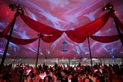 The Ball on the Mall's location is much more than your average tent. Inside, innovative decor and lighting transform a basic tent into a glamorous evening affair.