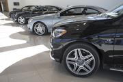 Several Mercedes-Benz's line of AMG vehicles on the second floor of the new Scottsdale dealership.