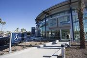 The $25 million Mercedes-Benz of Scottsdale is hard to miss off Scottsdale Road and Highland Avenue.