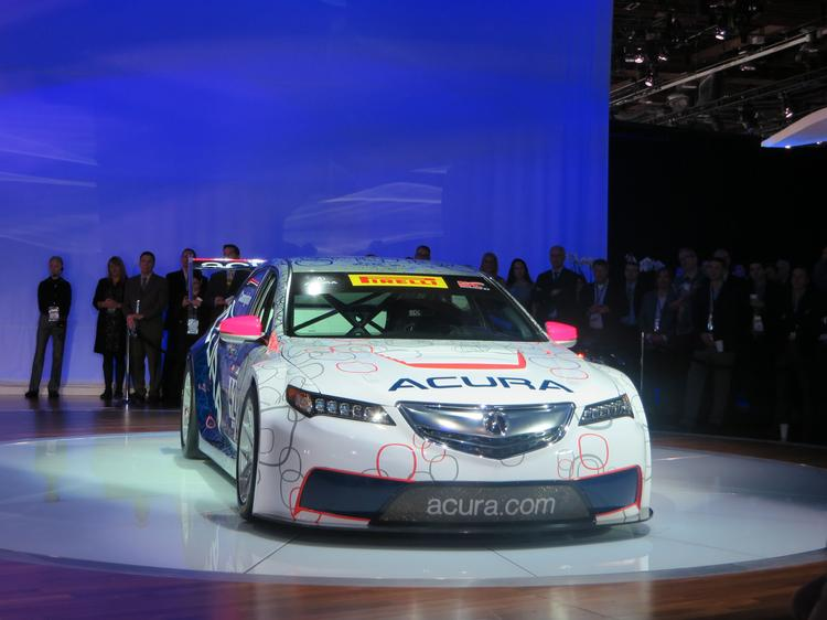 Honda unveiled the Acura TLX, shown here in its GT version, at the 2014 North American International Auto Show.