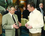 Jim Lockard, left, of DQE Communications and Bob Stearns of Powerful Potential.