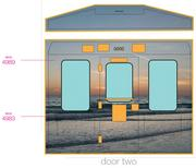The interior walls of a train on the Chicago Blue Line will have images of Sarasota's beaches and other attractions.