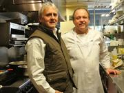 Restaurant owner Jim Noble (left) and Chef William R. Hoffman on the line at The King's Kitchen in Charlotte, N.C.
