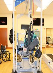 That's the Alter G, an anti-gravity tread mill that can reduce a patient's weight by 80 percent so they can do physical training.