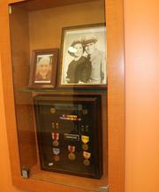 Outside of each veteran's room, there's are cubby holes they can decorate.