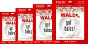 Wall Rx drywall repair kits come in four sizes.