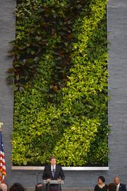 The new Social Security Administration building in Baltimore includes an interior living wall.