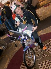 Jon Barnes is the communications director for ADG Creative in Columbia. His ADDYs costume was complete with a zebra mini-bike and a suitcase full of cash.