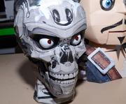 One of Pat Starace's animatronic heads inside a robotic skull paper sculpture. Awesomeness has a face, and this is it.