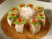 One of the restaurant's sushi rolls is the Picasso roll, which has a spicy yellowtail mix, avocado, jalapeño, cilantro, togarashi, sriracha and yuzu ponzu.