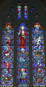 Willet Hauser made this stained glass for St. Mark's Episcopal Cathedral in Minneapolis.