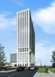 Hanover Co.'s 3400 Montrose tower, east perspective