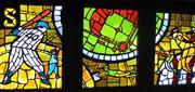 This stained-glass installation was designed by Yumi Heo and made by Willet Hauser for the Metropolitan Transportation Authority in New York City.