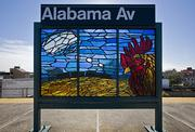Another Willet Hauser stained-glass project for the Metropolitan Transportation Authority in New York City, this one designed by Scott Redden.
