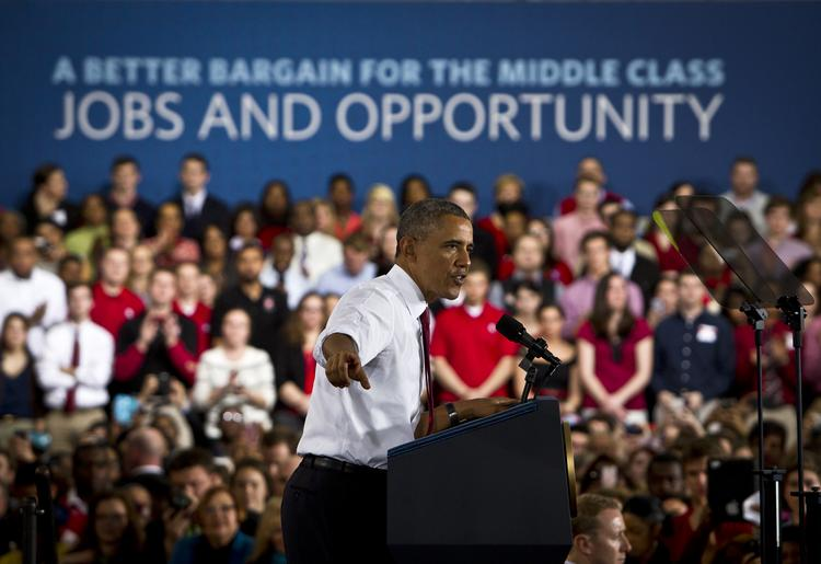President Barack Obama spoke to a crowd of about 2,000 people regarding innovation, jobs and the economy at N.C. State University in Raleigh on Jan. 15.