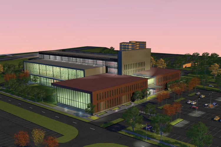 One conceptual rendering of Ohio State's planned sports medicine institute.