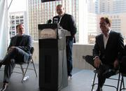 Bart Blatstein's plan for The Provence Resort & Casino in Philadelphia would include involvement from two celebrity chefs, Tom Colicchio and Andrew Carmellini. The Provence is one of five proposals vying for one casino license. Pictured from left, Carmellini, Colicchio and Blatstein.