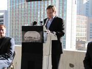 Attorney Phil Colicchiointroduced his brother, Chef Tom Colicchio.