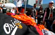 Orioles T-Shirts were a popular item on Opening Day among fans.