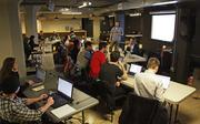Students learn to code at a Code Fellows Ruby on Rails boot camp in the basement of the 511 Boren Ave. N. building in Seattle's South Lake Union district.