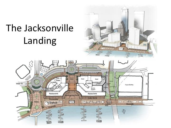 Alan Wilson, chief architect at Haskell Co., presented a conceptual design for the Landing to the Downtown Investment Authority Wednesday evening.