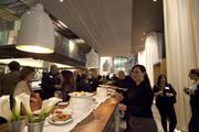 Food is served at Ella at the Book of Lists party.