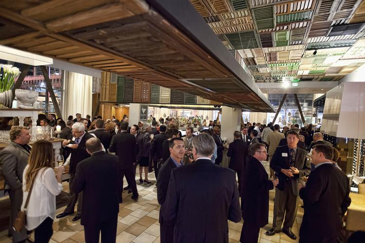 People mingle at the Sacramento Business Journal Book of Lists party at Ella Dining Room and Bar.