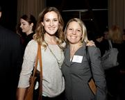Anna Quinlan and Lindsay Goulding of Porter Scott pose at the Book of Lists party.
