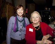 Sacramento River Cats owner Susan Savage poses with Sandy Smoley of the Sandy Smoley Group at the Book of Lists party.