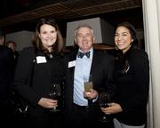 Erica Taylor, Greg Patton and Marisa Hicks of Five Star Bank pose at the Book of Lists party.