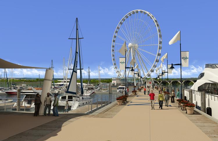 A rendering of the Capital Wheel which will be installed at National Harbor.
