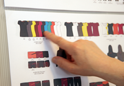 A detailed look at the storyboard shows that Respect Your Universe's 2014 line is all about color.
