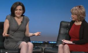 Sheryl Sandberg talks with Pat Mitchell of TEDWomen.