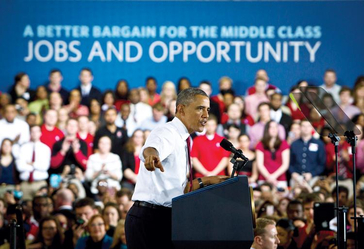 President Obama speaks to the crowd about innovation, economy, jobs and opportunity at N.C. State last month.