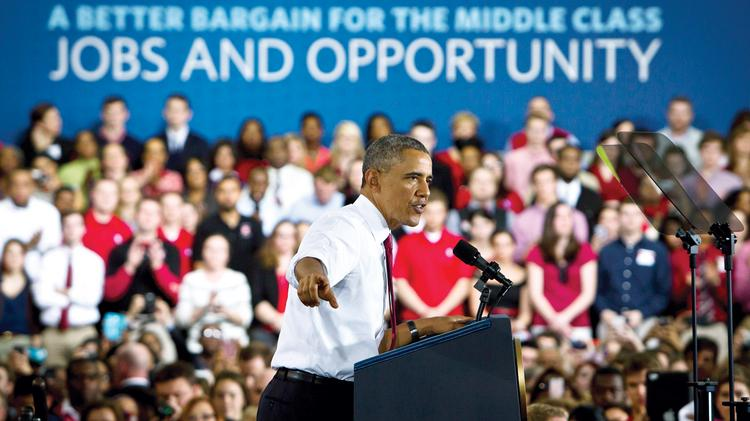 President Obama speaks to the crowd about innovation, economy, jobs and opportunity at N.C. State earlier this year.