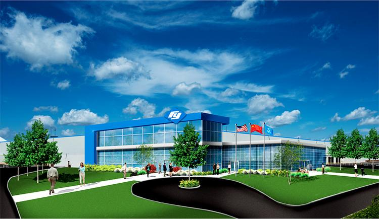 Architect's rendering of future Fuyao plant in Dayton.