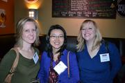From left, May Curry of Spark Design, Diane Concentria and Simone Larson, also of Spark Design.