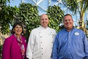 From left, Beverage Manager Marianne Hunnel, Executive Chef Jens Dahlmann and Festival Horticulture Manager Eric Darden were among the Epcot team members that worked to give the Flower & Garden Festival a different feel from fall's Food & Wine Fest.