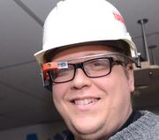 John also made a Google Glass brace for a hard hat with a 3D printer.