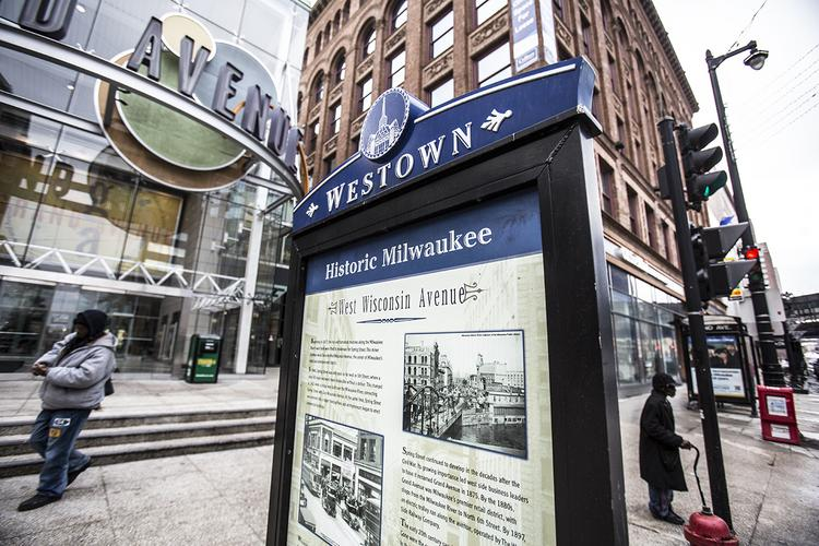 George Meyer is part of a committee considering ideas for West Wisconsin Avenue, including The Shops of Grand Avenue.
