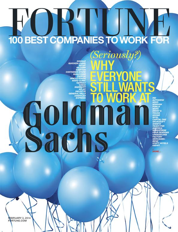 """The cover of Fortune's """"best companies to work for' issue."""