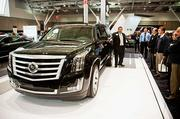 2015 Cadillac Escalade at 2014 New England auto show.