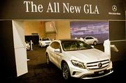 Mercedes GLA at 2014 New England auto show.