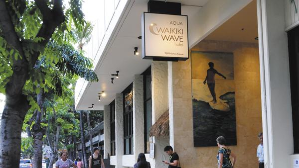 The Aqua Wave Waikiki hotel was one of a handful of Hawaii hotel properties that have changed hands this year. The transaction total for hotel investments so far this year has surpassed $840 million, according to Joe Toy, president and CEO of Honolulu-based Hospitality Advisors LLC.