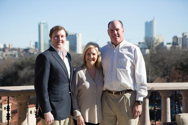 From left, Bradfield, Becky and Robert Heiser Jr. of Heiser Development Corp.
